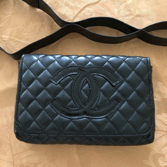 2763d22d50 Chanel VIP Black Quilted Waist Bag NWT